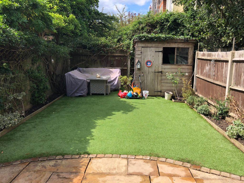Balham. Functional child-friendly garden makeover