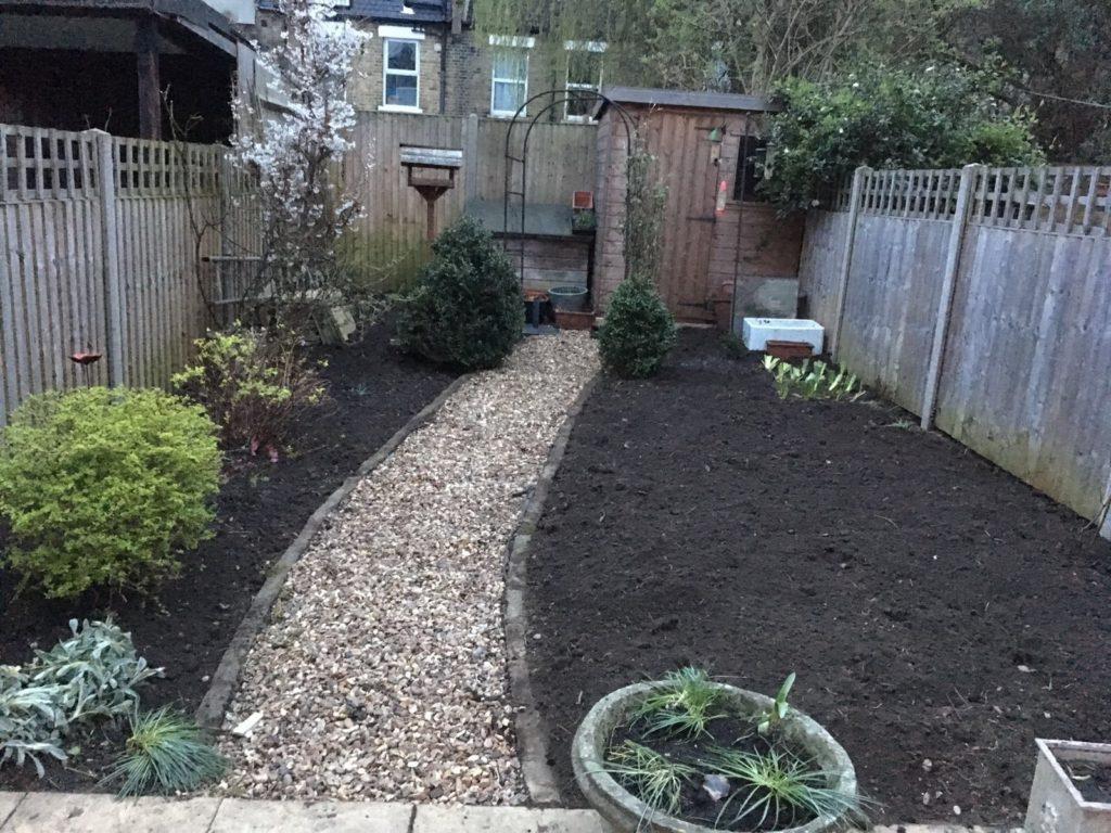Tooting. Urban veggie garden
