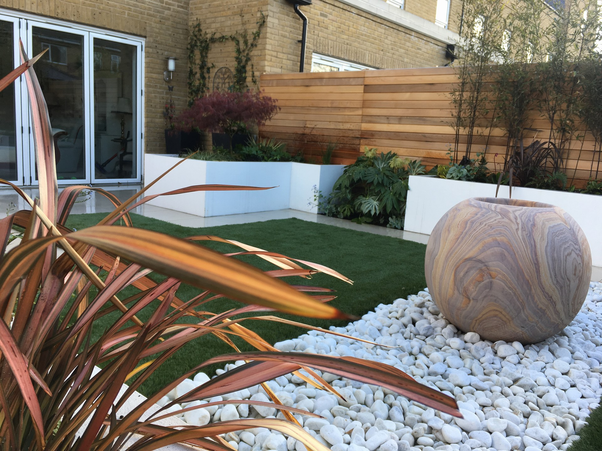 Sunbury. Low maintenance and modern soft landscaping.