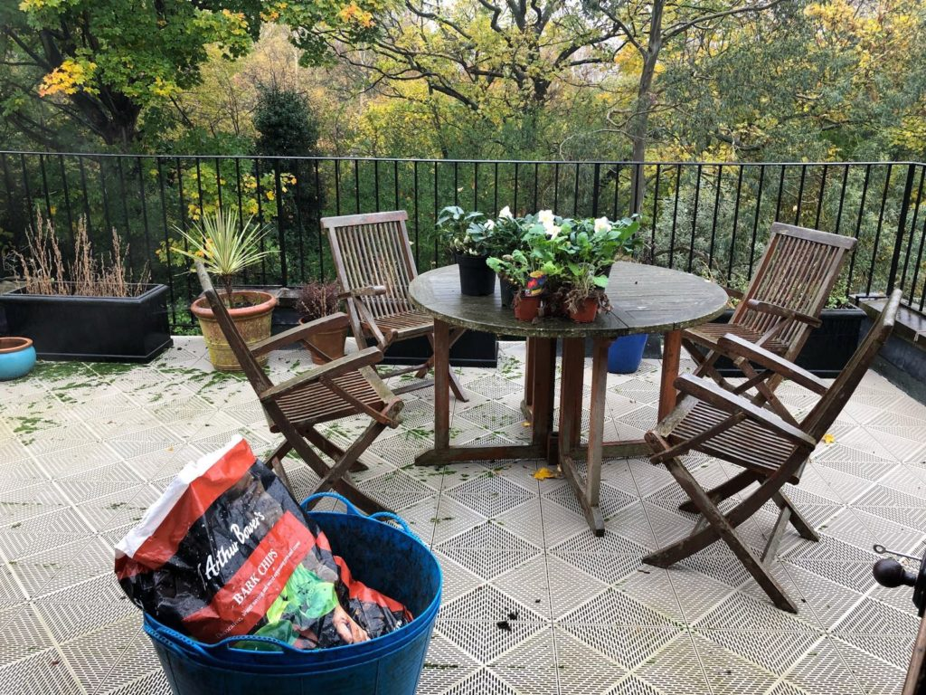 Fulham. Terrace re-planting