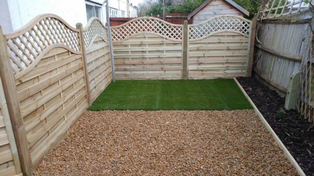 New Malden. Zero maintenance garden makeover